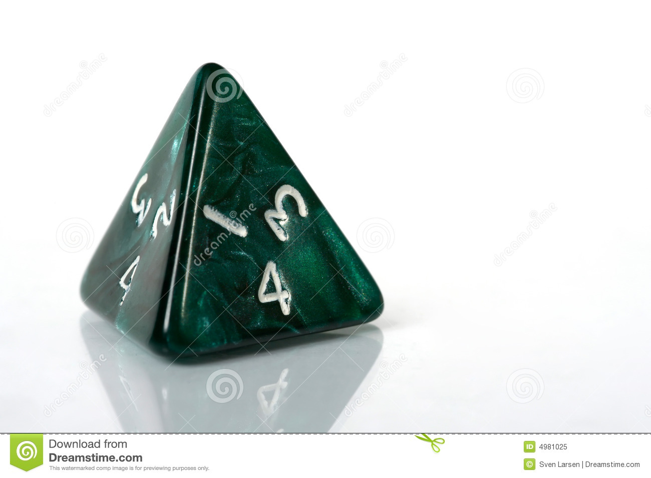Four Sided Dice Royalty Free Stock Photo   Image  4981025