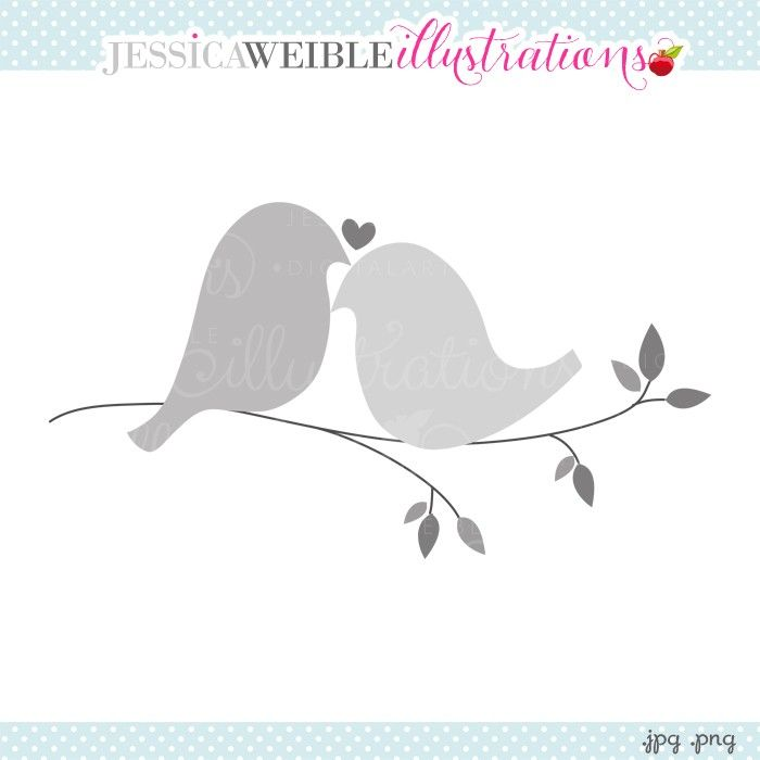 Love Doves Clipart   Jw Illustrations   Jwi    Create With Clipart