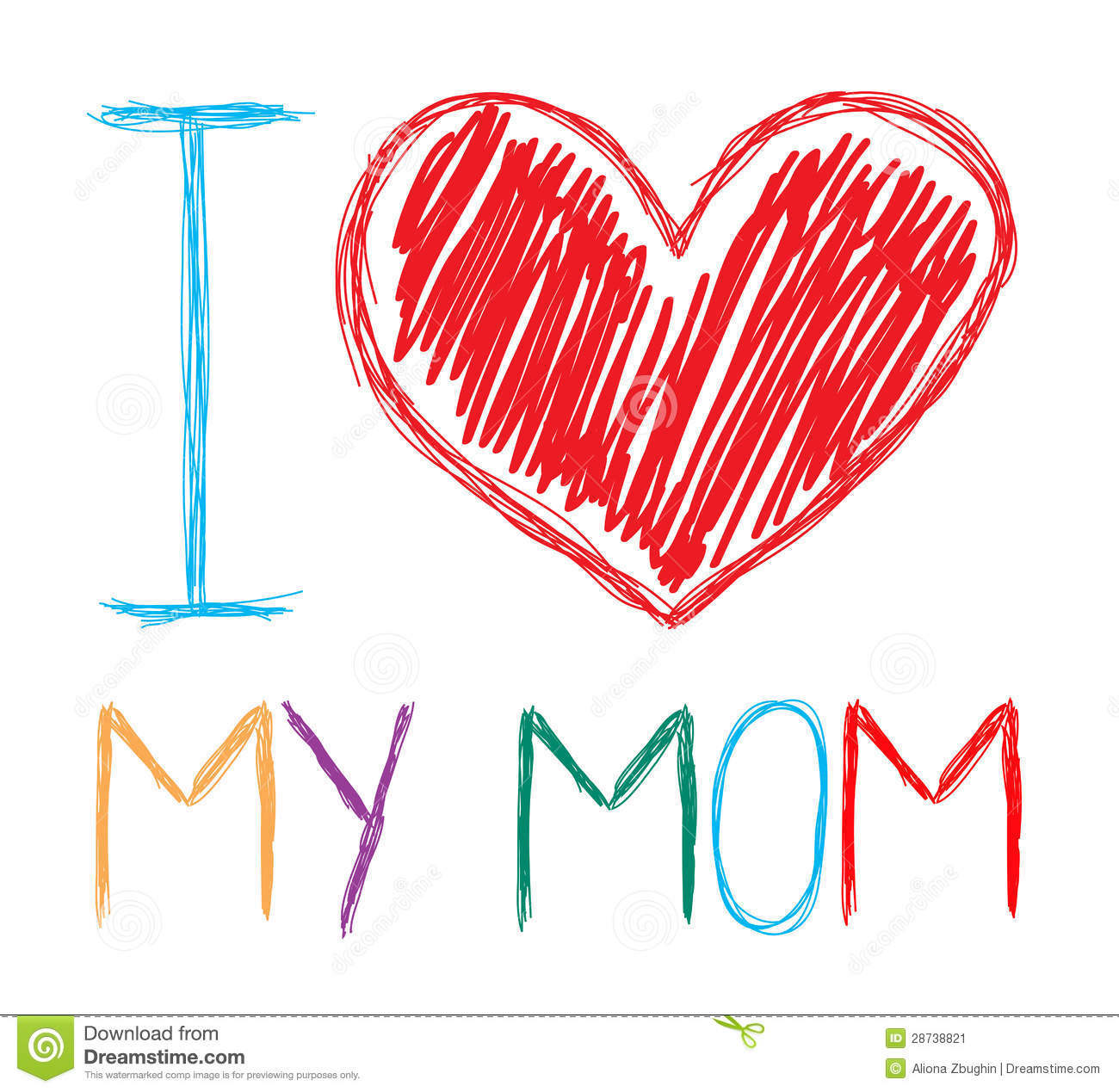 Love My Mom Stock Image   Image  28738821