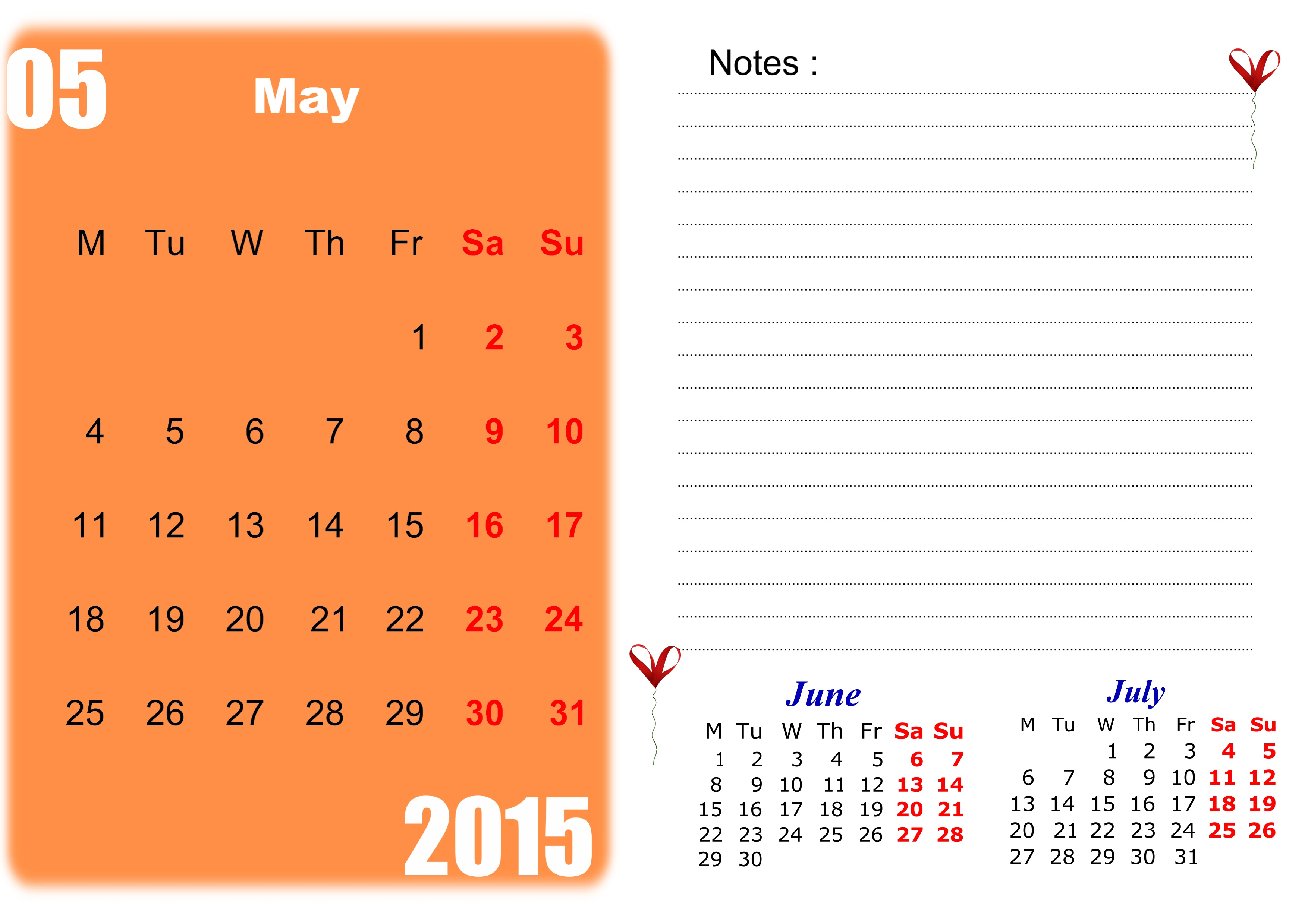 May 2015 Calendar Clipart - Clipart Kid