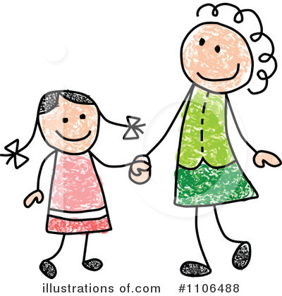 Mother And Daughter Clip Art Images Mother And Daughter Stock Photos