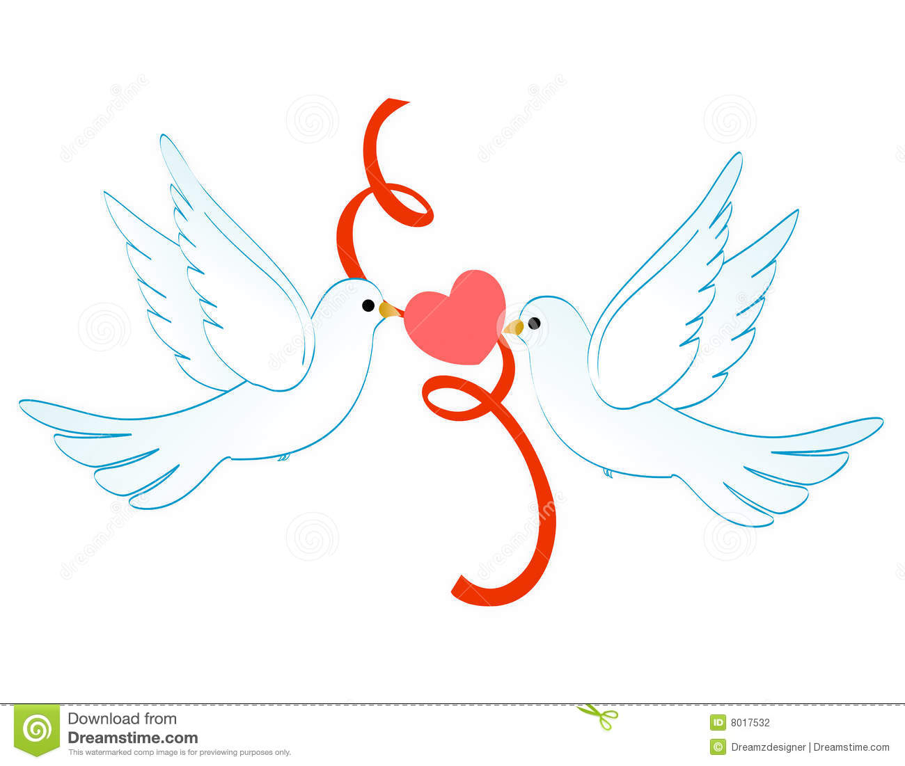 Outline Dove Clipart For Wedding Invitations  Valentine S Day Cards
