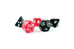 Photo Of Red And Black Multi Sided Dice Stock Photos