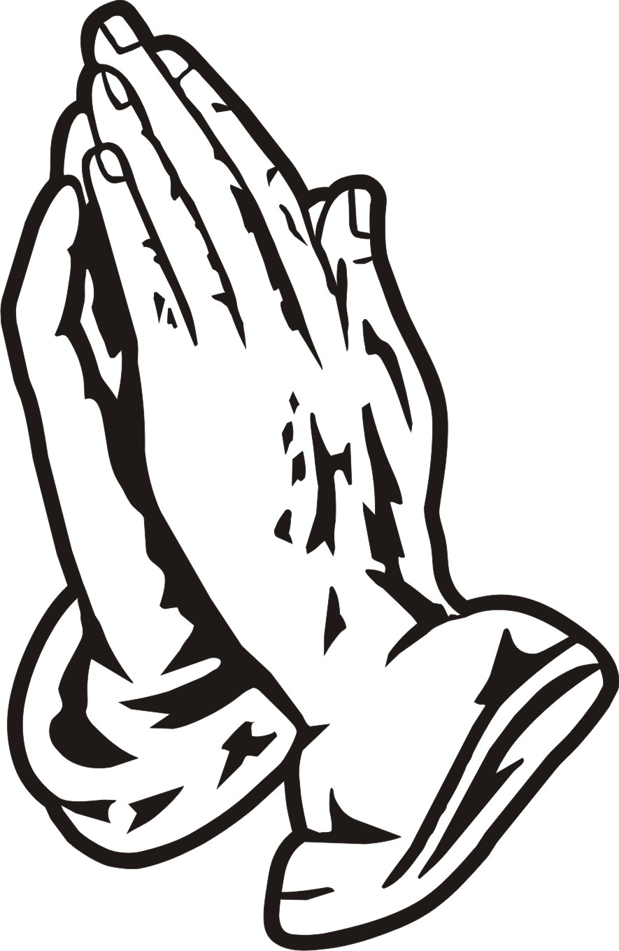 Praying Hands Clipart Cross And Praying Hands Clipart Black And White