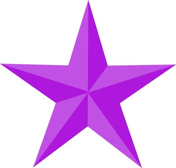 Purple Star Clipart - Clipart Kid