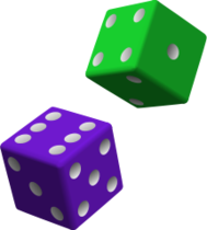 Red Two Recreation Cartoon Dice Free Games Game Dices