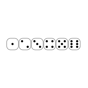 Six Sided Dice Faces Lio 01 Clipart Cliparts Of Six Sided Dice Faces