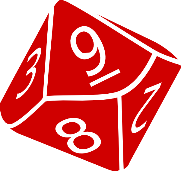 Ten Sided Dice Clip Art At Clker Com   Vector Clip Art Online Royalty