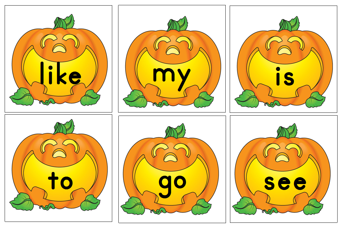 Aloha Kindergarten   Pumpkin Letters And Sight Words