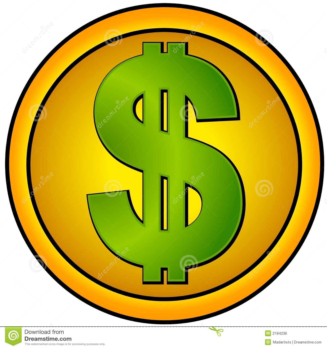 Gold Dollar Sign Clipart - Clipart Suggest