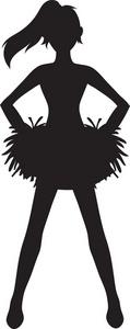 Cheerleader Silhouette Clipart - Clipart Kid