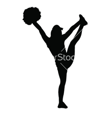 Cheerleader Silhouette Images cheerleading silhouette clip art ...