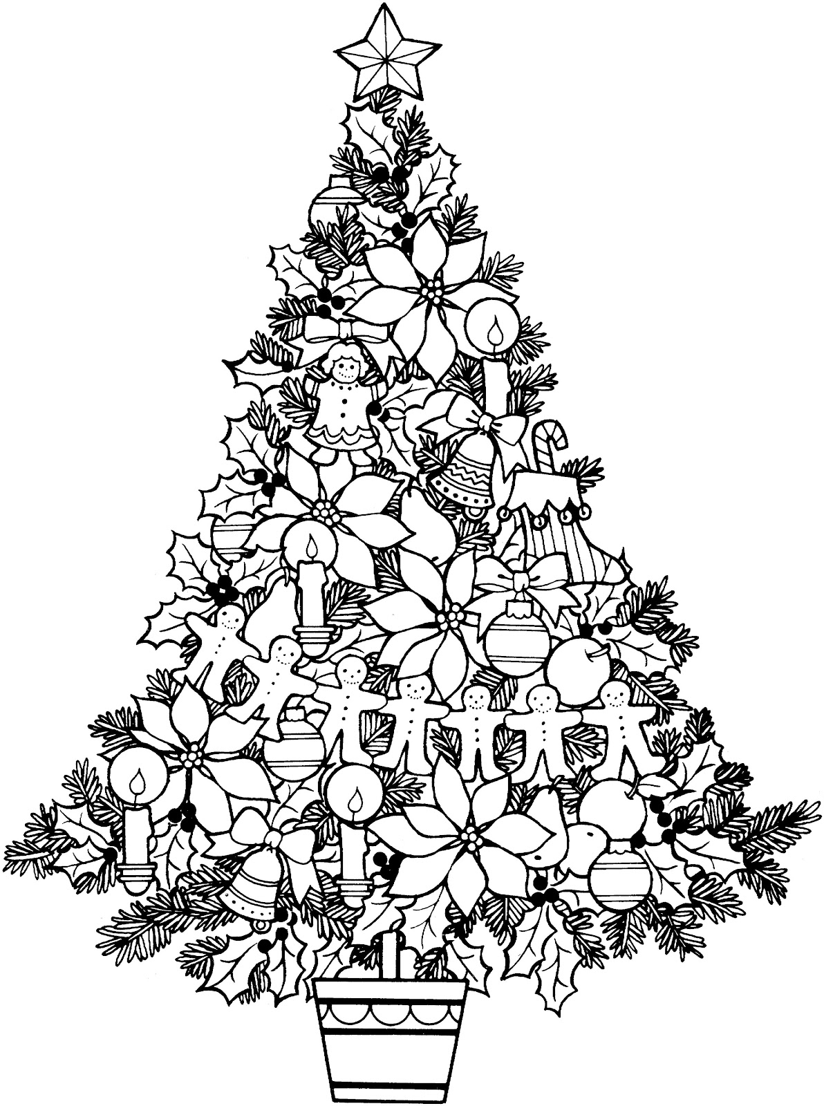 Christmas Star Black And White Clipart - Clipart Kid