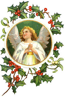 Christmas Clipart Angels Vintage