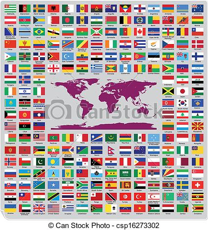 Clipart Of Official Country Flags   Updated And Official Country Flags