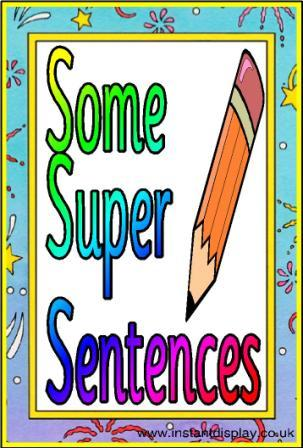 Compound Sentence Clipart Sentences Display Posters