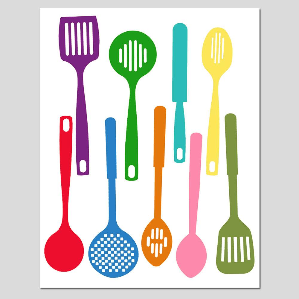 Kitchen Utensils Clip Art ~ Cooking utensils silhouette wyo t clipart kid