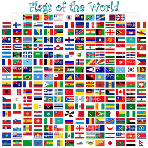 Flags Of The Countries Of The World Download Royalty Free Vector