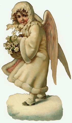 Free Vintage Angel Clipart White Coat And Hood