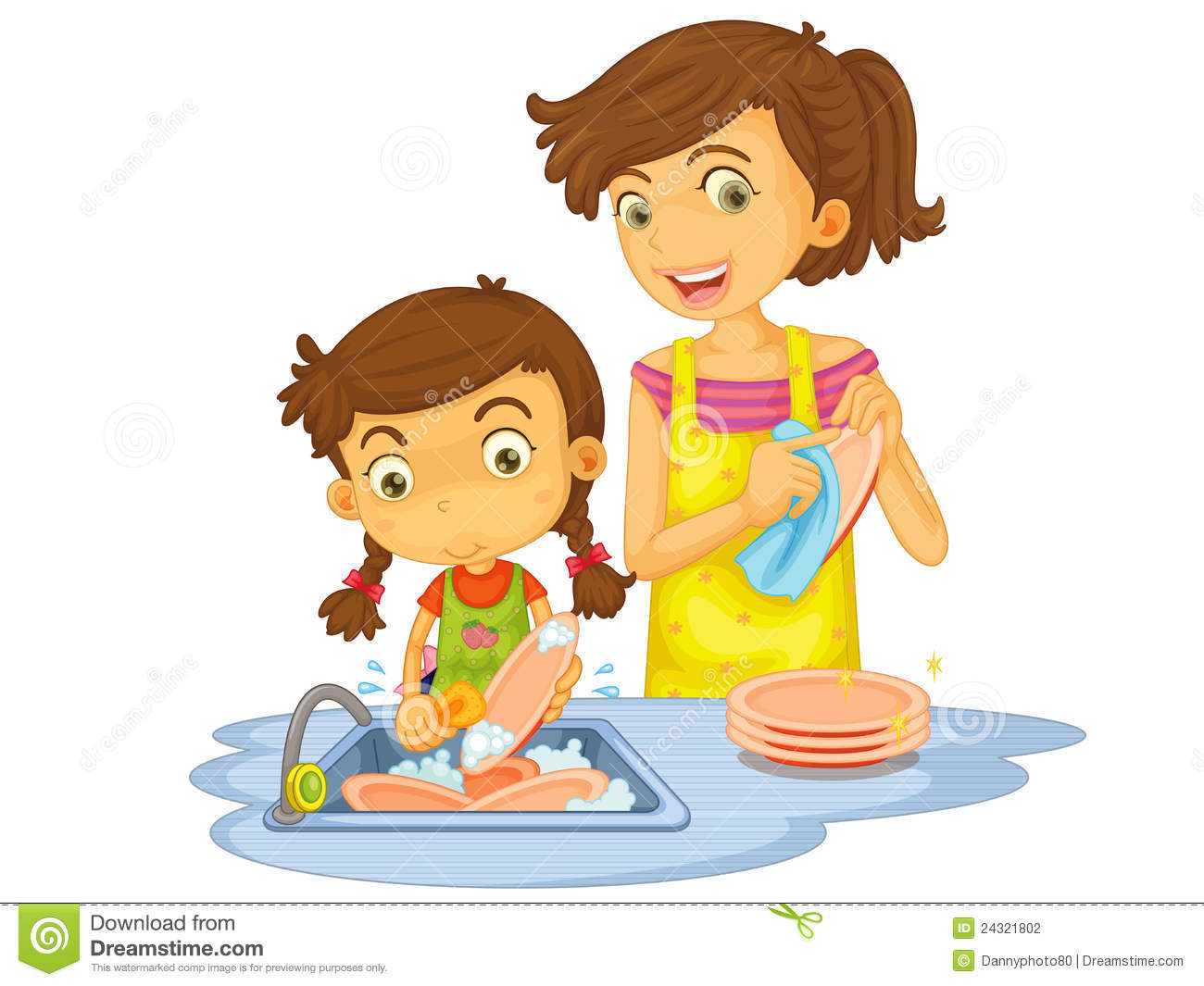 Go Back   Pix For   Washing Dishes Clipart