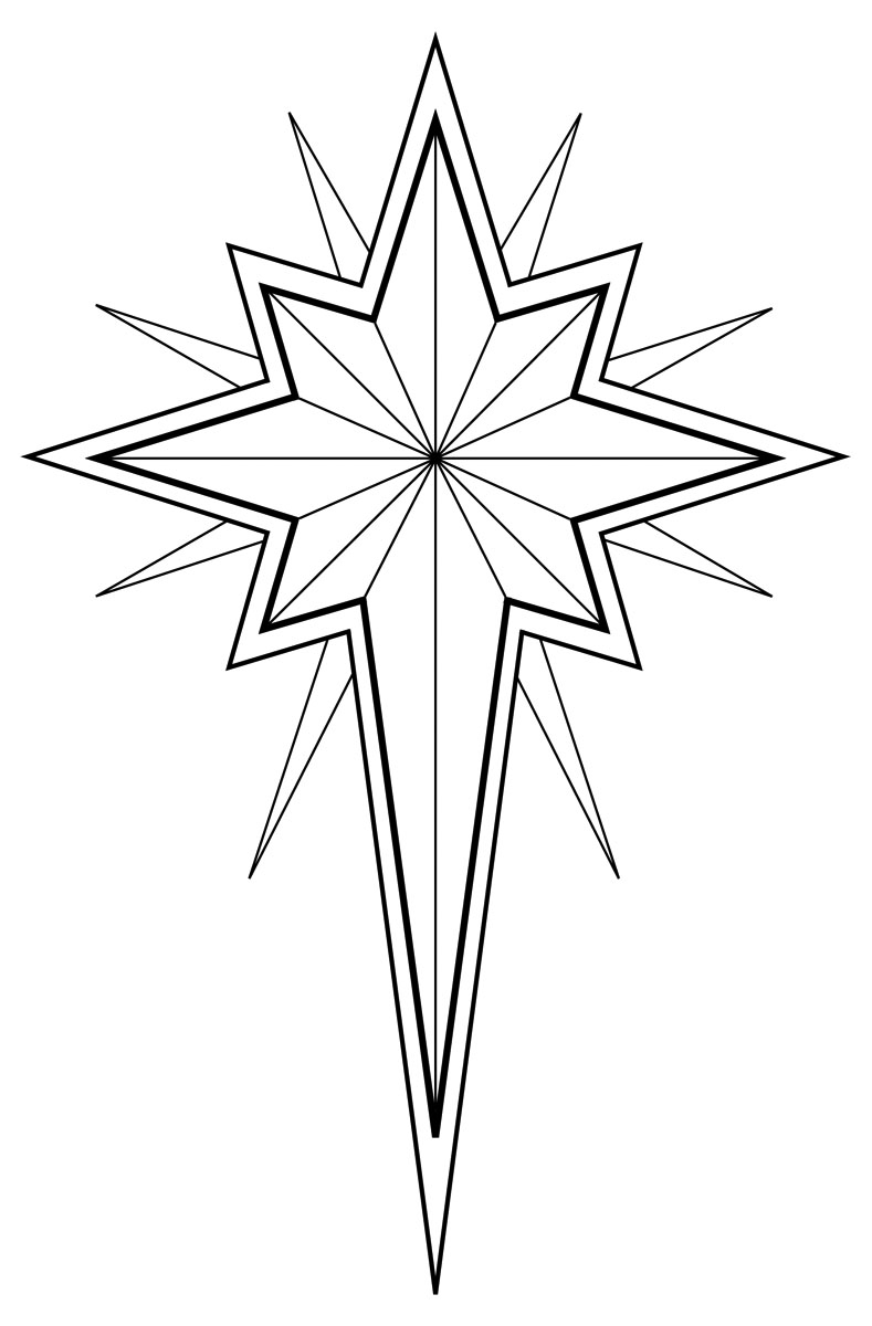 In Black And White  Use This Illustration Of A Christmas Star Or Star