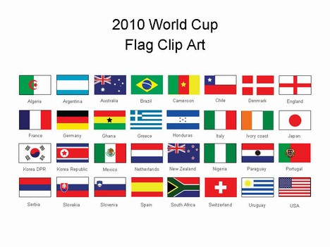 Of The  2010 World Cup  Flags To Help You Support Your Country