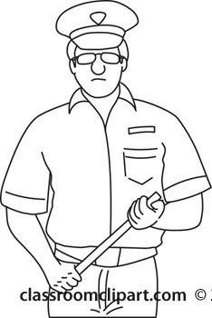 People   Police Officer Outline 1211   Classroom Clipart