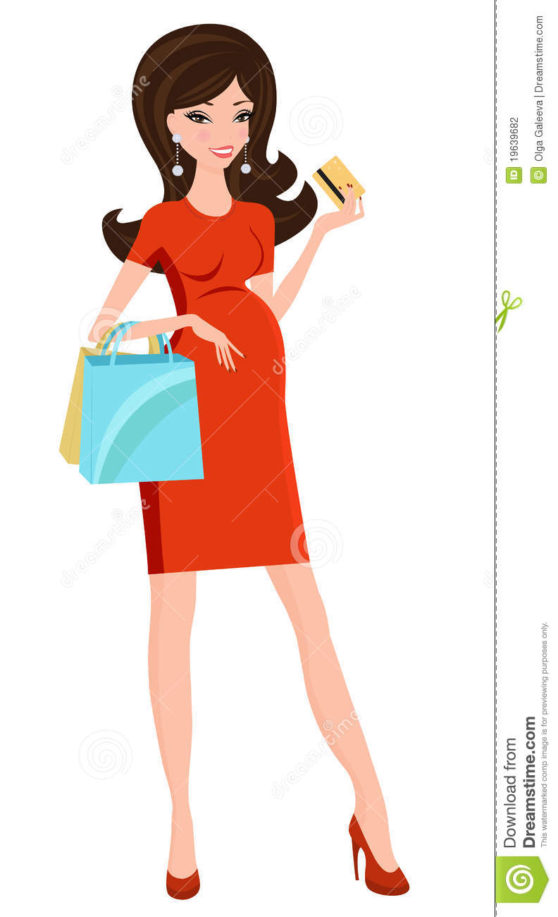 Pregnant Women Shopping Clipart   Free Clip Art Images