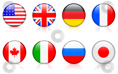 World Flags  G8 Member Country Flags Stock Vector Clipart World Flags