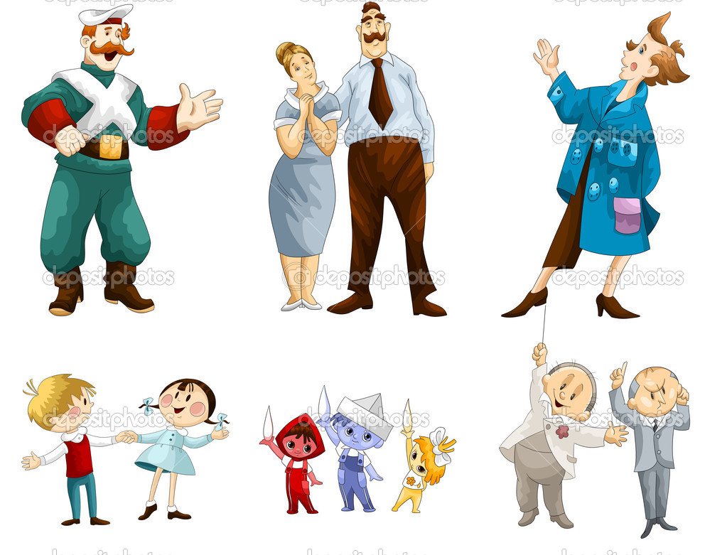 Boyar Parents Artist Kids Professor Clipart Cartoon Style Vector