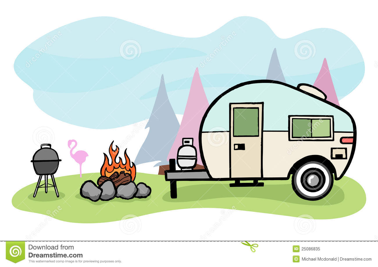 Camper Illustration Royalty Free Stock Photo   Image  25086835