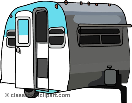 Camping   Camper Trailer 151008   Classroom Clipart