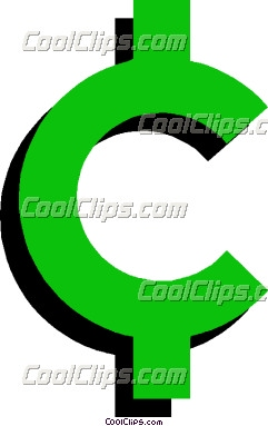 Cents Sign Clipart