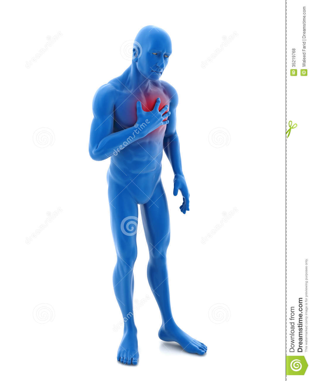 Chest Pain Royalty Free Stock Photos   Image  35219768