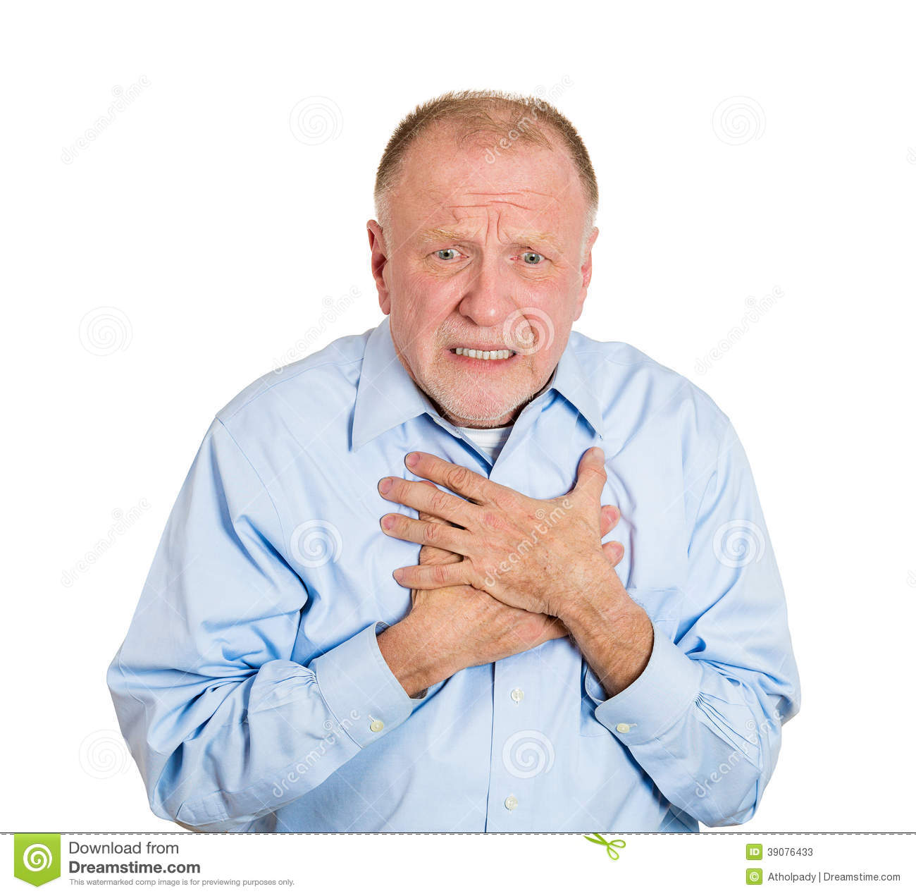 Chest Pain Stock Photo   Image  39076433