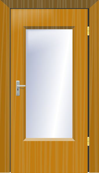 Shut the door clipart clipart suggest for Art glass windows and doors
