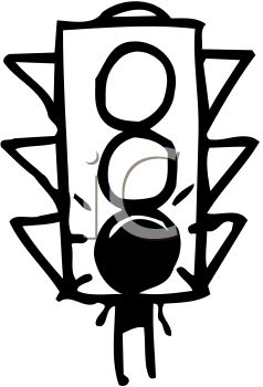 Clipart 0511 0905 2621 4950 Black And White Traffic Light Clipart