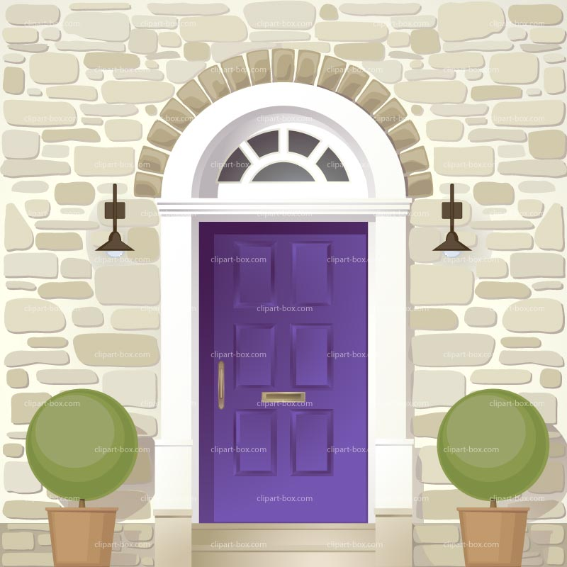 Hotel Front Door: Clip Art Cartoon Fancy Door Clipart