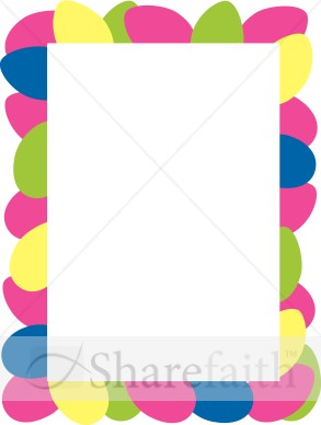 Colorful Border Clipart   Easter Borders