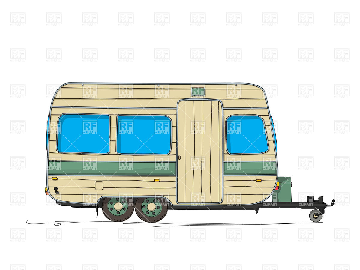 Displaying 18  Images For   Camper Trailer Clipart