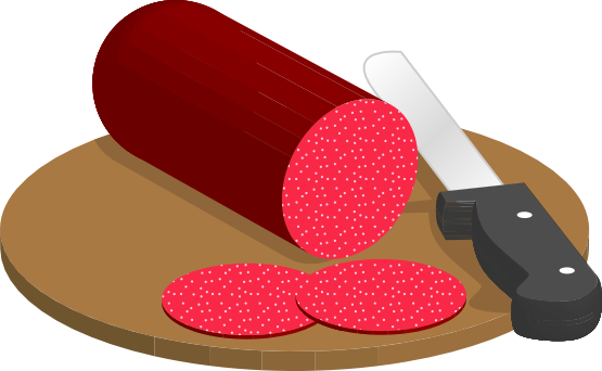 Free Sliced Salami Clip Art