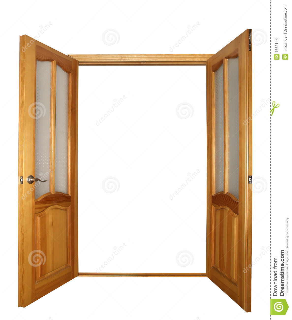Open door free clipart clipart suggest for Double opening front doors
