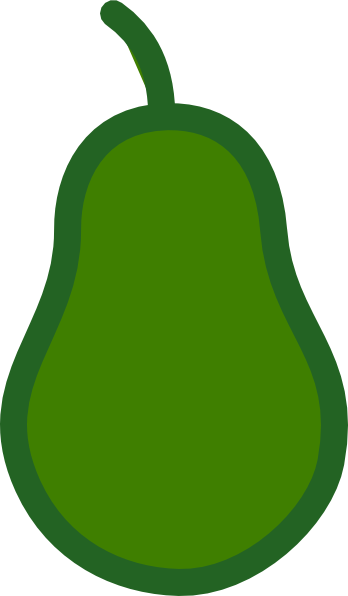 Green Pear Outline Clip Art At Clker Com   Vector Clip Art Online