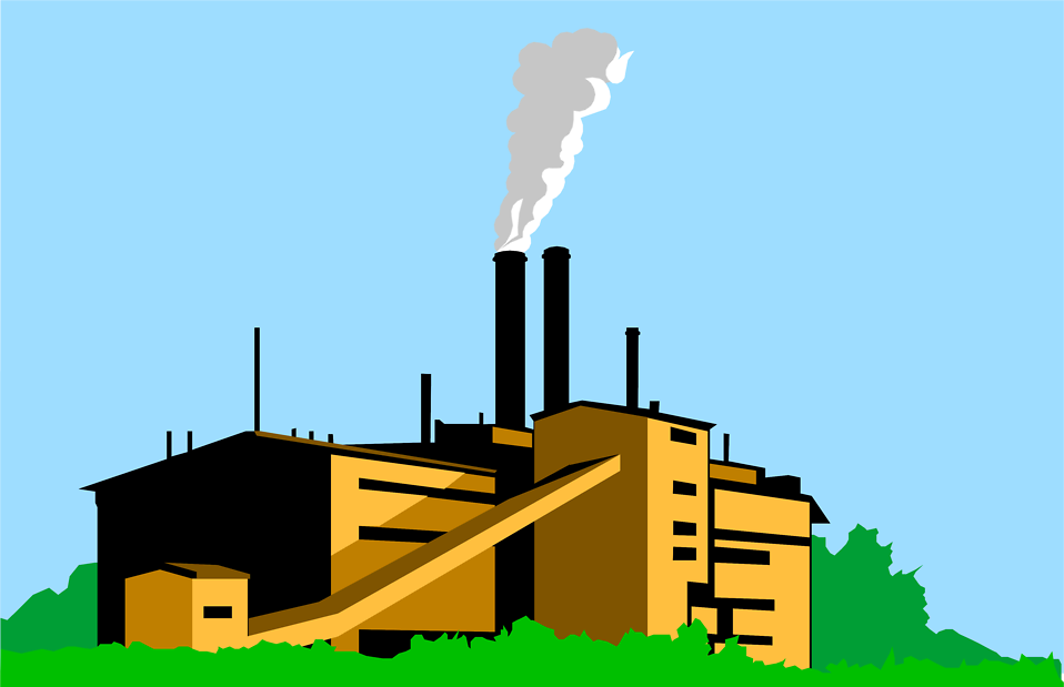 Illustration Of A Factory   Free Stock Photo