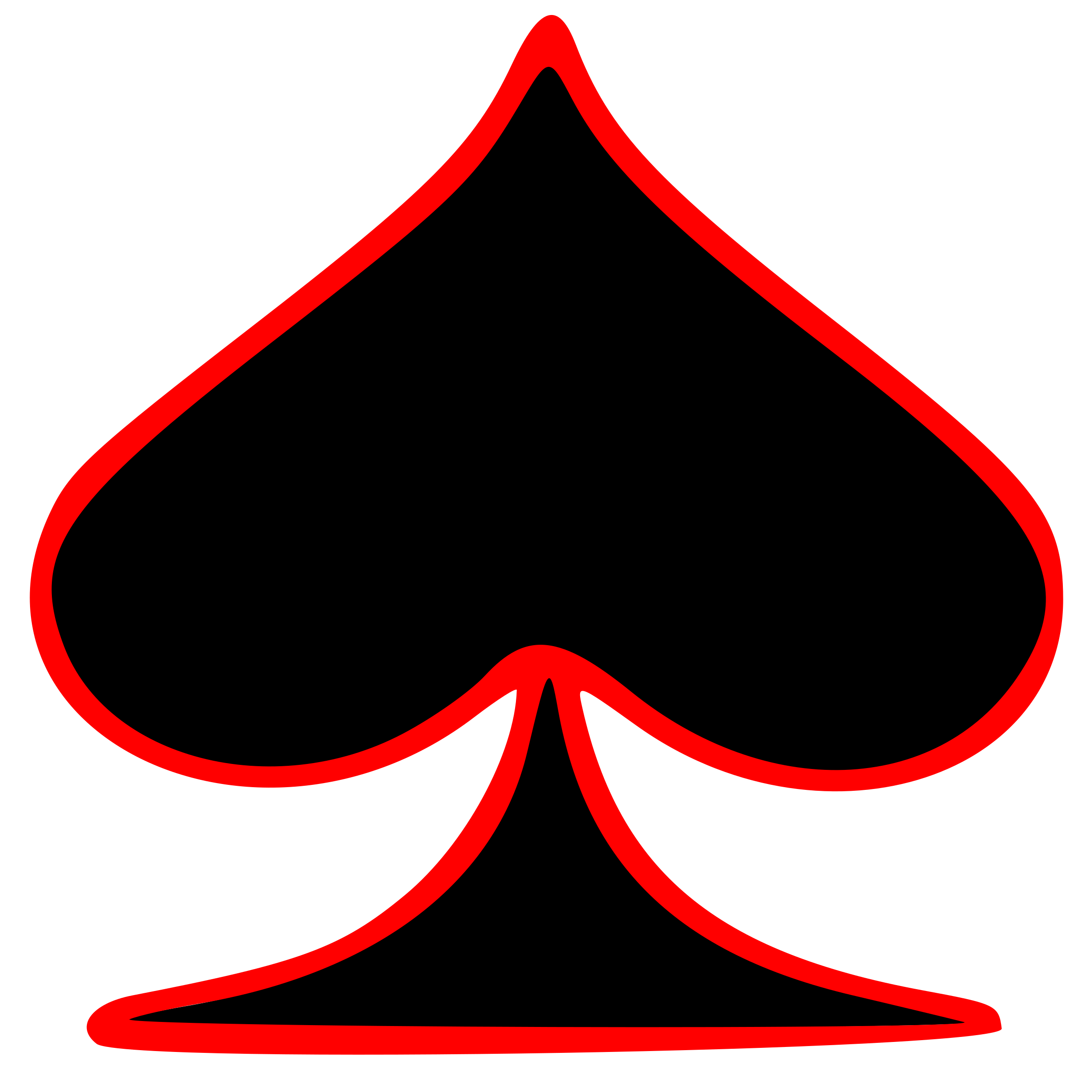 Outlined Spade Playing Card Symbol