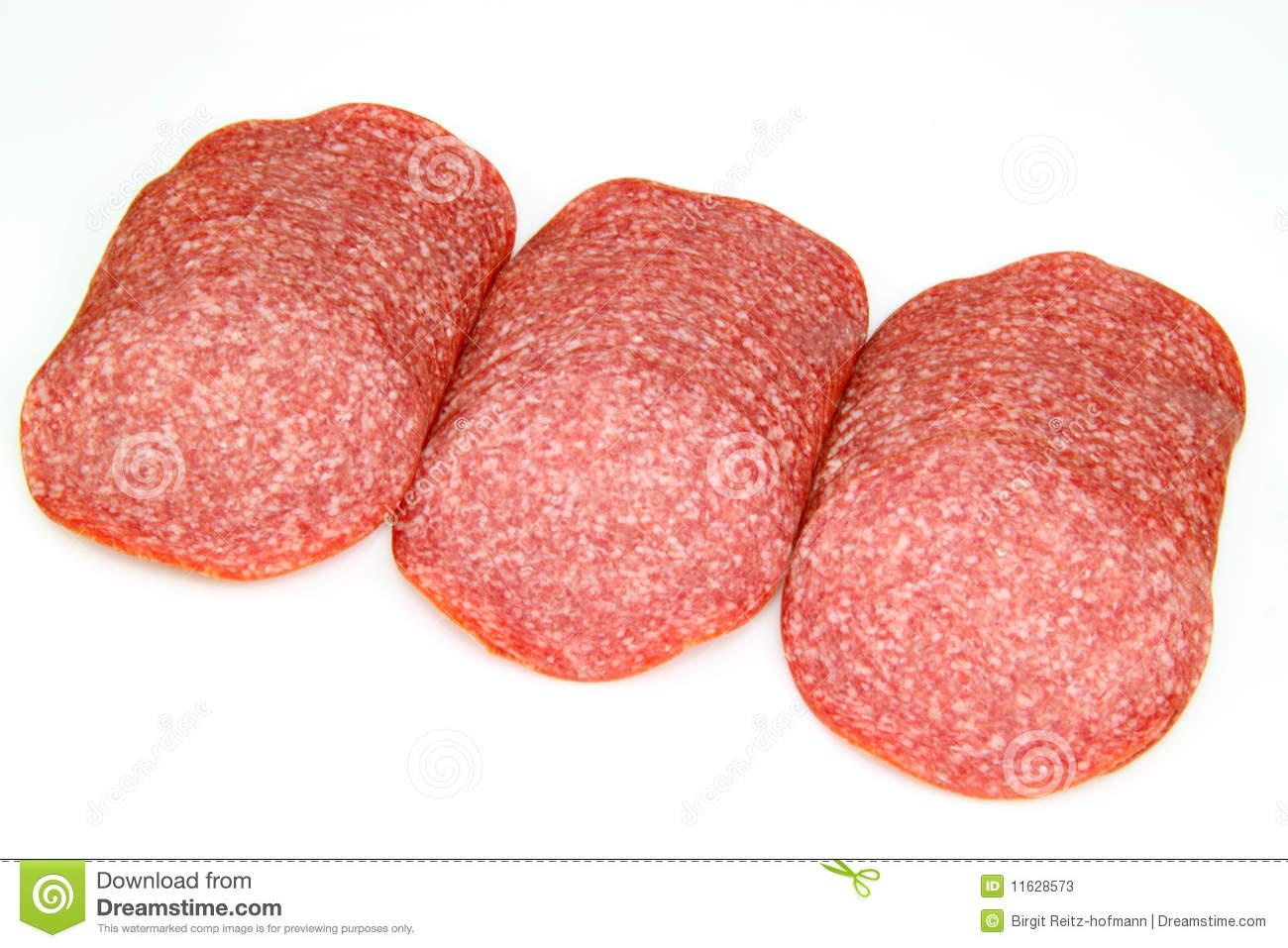 Slice of salami clipart