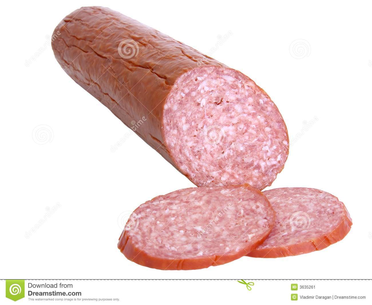 Slice Of Salami Clipart Hard Salami And Slices
