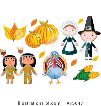 Thanksgiving Clipart  75647   Illustration By Pushkin