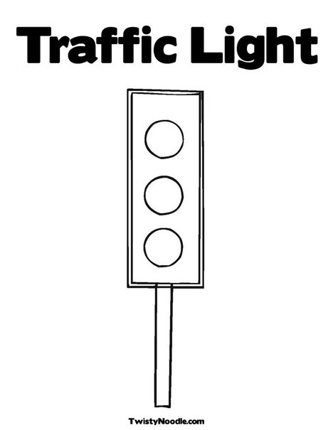 Traffic Light Outline Clipart - Clipart Kid