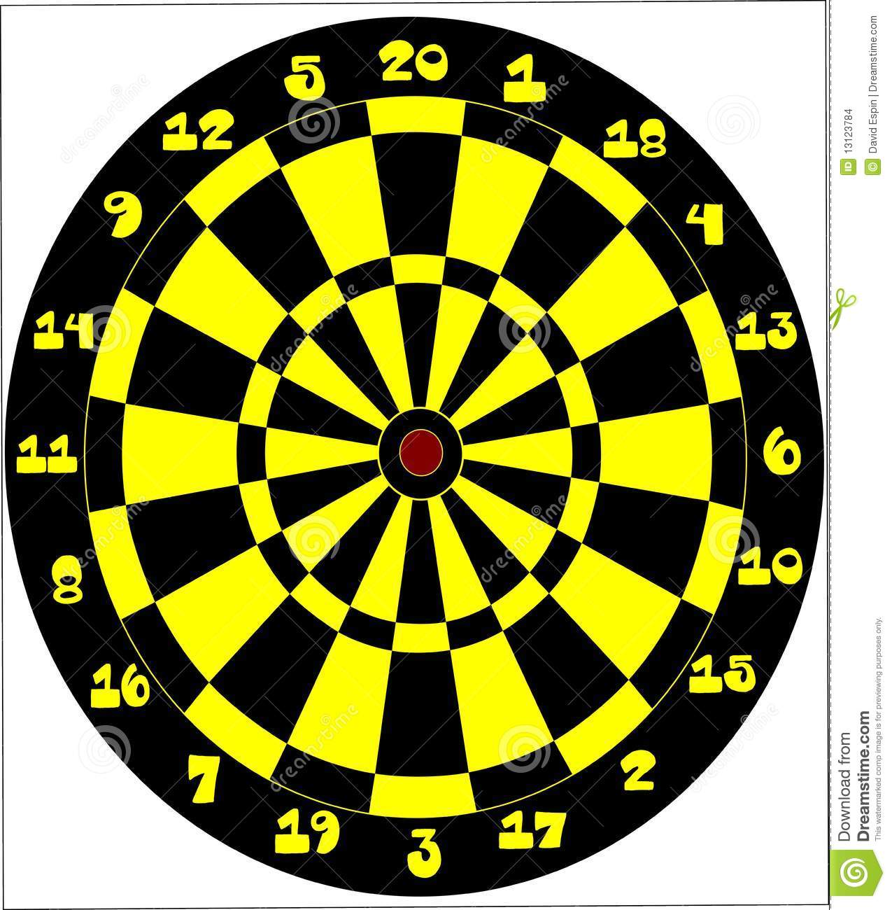 Vector Of A Target For Darts